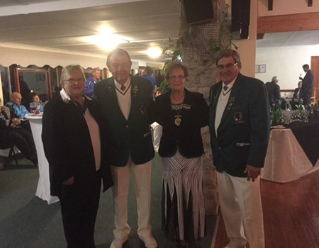 (From left to right) Almarie du Toit (President of Boland Bowls), Alan Freeman (President of Bowls South Africa), Executive Mayor Nicolette Botha-Guthrie, Kallie Haupt (Vice President of Bowls South Africa) pictured at the opening of the 2015 Bowls South Africa Mixed Pairs Championship